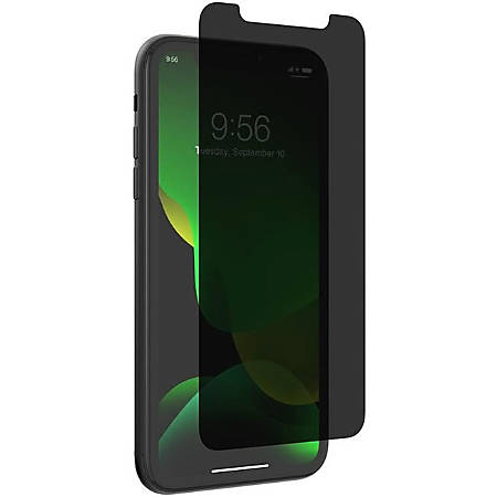 invisibleSHIELD Glass Elite Privacy Screen Protector - For LCD iPhone 11 - Impact Protection, Scratch Resistant, Fingerprint Resistant, Smudge Resistant, Oil Resistant - Glass