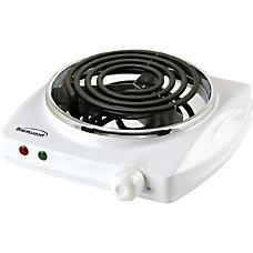 Brentwood 1000W Single Burner White Spiral