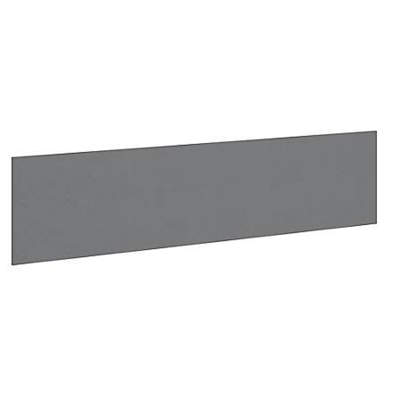 "Bush Business Furniture Studio C 72""W Tack Board, Smoke, Premium Installation"