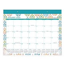 Cambridge Anna Monthly Desk Pad Calendar