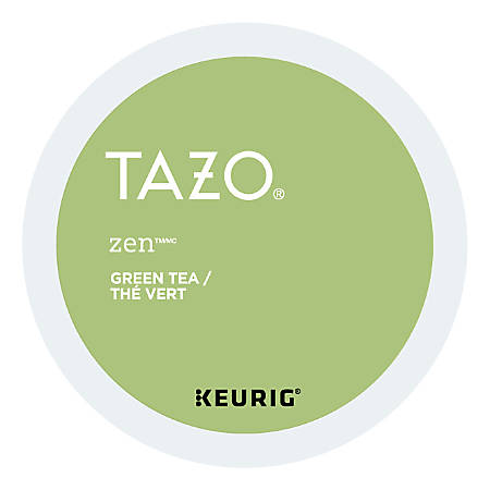 Tazo® Zen Green Tea Single-Serve K-Cups®, 3.3 Oz, Carton Of 24