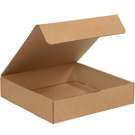 "Office Depot® Brand Literature Mailers, 12"" x 12"" x 2"", Kraft, Pack Of 50"