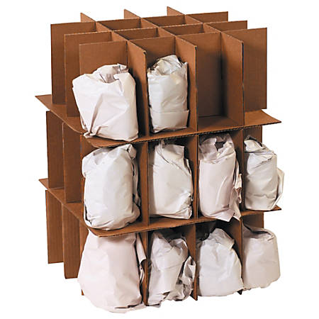 """Office Depot® Brand Partition Kit For Dish Moving Box, 18"""" x 18"""" x 28"""""""