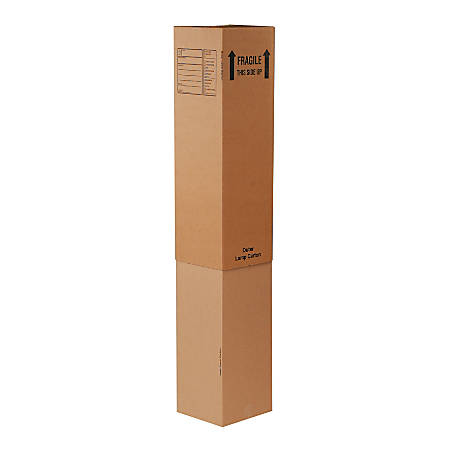 "Office Depot® Brand Printed Outer Lamp Deluxe Moving Boxes, 12 5/16"" x 12 5/16"" x 40"", Pack Of 15"