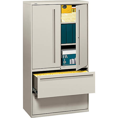 """HON® Brigade® 700 Series Lateral File, 36"""" Wide, Light Gray"""