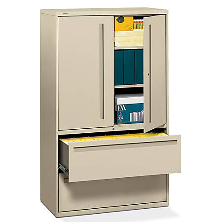 """HON® Brigade® 700 Series Lateral File, 42"""" Wide, Putty"""
