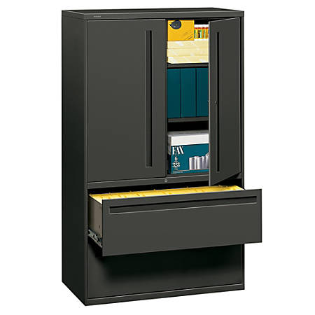 """HON® Brigade® 700 Series Lateral File, 42"""" Wide, Charcoal"""
