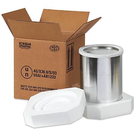 """Office Depot® Brand Hazardous Materials Foam Shipper Kit, 1 Gallon, 8 1/2"""" x 8 1/2"""" x 9 5/16"""""""