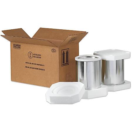 """Office Depot® Brand Hazardous Materials Foam Shipper Kit, 2 1-Gallon, 17"""" x 8 1/2"""" x 9 5/16"""""""
