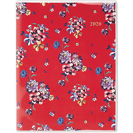 """Cambridge® Rouge 13-Month Planner, 8-1/2"""" x 11"""", Multicolor, January 2020 to January 2021, 1264-091"""