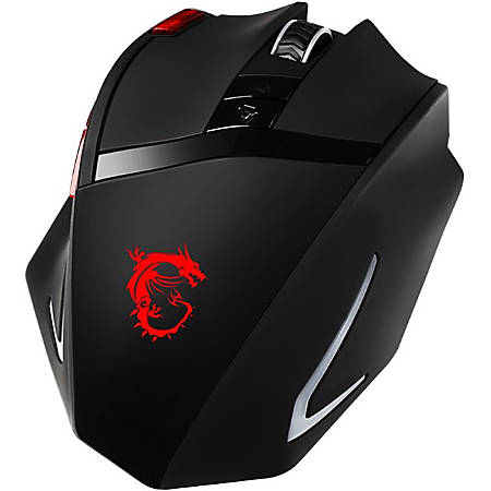 MSI™ Interceptor DS200 Gaming Mouse, Black/Red