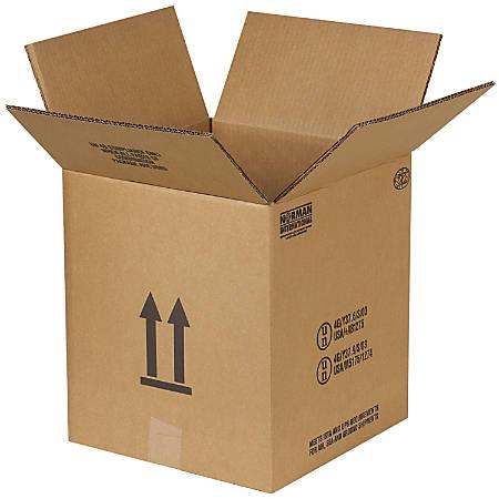 "Office Depot® Brand Hazardous Materials Corrugated Cartons, 5 Gallon, 12 1/8"" x 12 1/8"" x 13 9/16"", Pack Of 10"