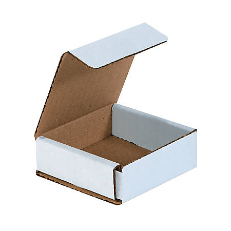 """Office Depot® Brand White Corrugated Mailers, 3"""" x 3"""" x 1"""", Pack Of 50"""