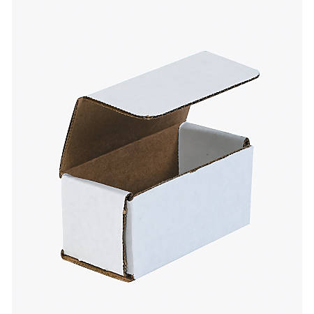 "Office Depot® Brand White Corrugated Mailers, 4"" x 2"" x 2"", Pack Of 50"