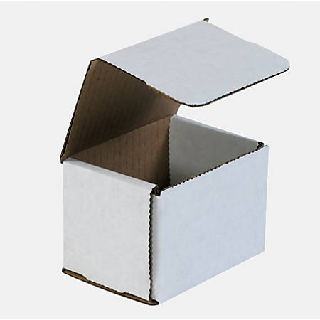 "Office Depot® Brand White Corrugated Mailers, 4"" x 3"" x 3"", Pack Of 50"