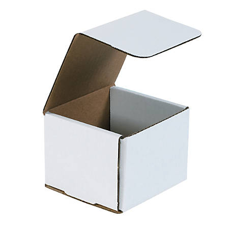 """Office Depot® Brand White Corrugated Mailers, 4 3/8"""" x 4 3/8"""" x 3 1/2"""", Pack Of 50"""
