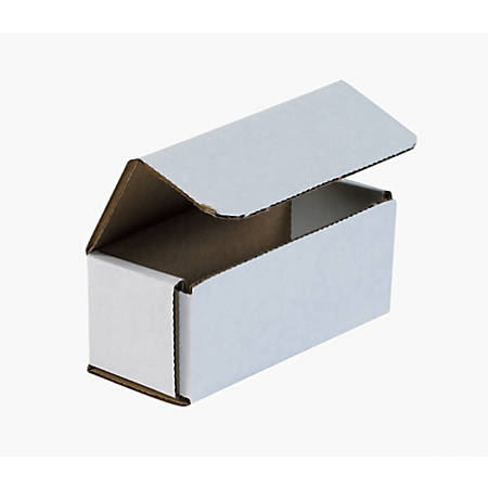 "Office Depot® Brand White Corrugated Mailers, 5"" x 2"" x 2"", Pack Of 50"