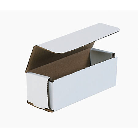 "Office Depot® Brand White Corrugated Mailers, 6"" x 2"" x 2"", Pack Of 50"
