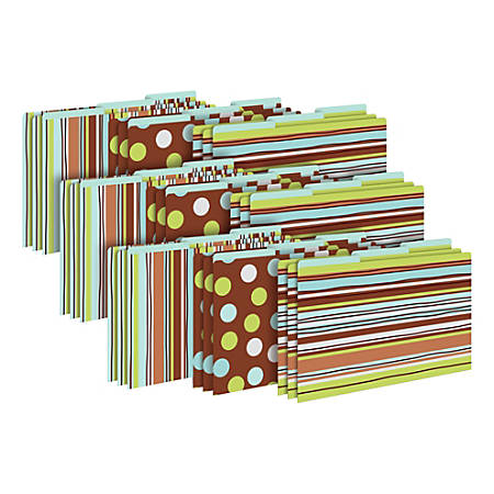 Barker Creek Tab File Folders, Legal Size, Ribbon By The Yard, Pack Of 27 Folders