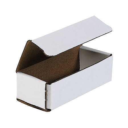 """Office Depot® Brand White Corrugated Mailers, 6"""" x 2 1/2"""" x 1 3/4"""", Pack Of 50"""