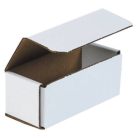 "Office Depot® Brand White Corrugated Mailers, 6"" x 2 1/2"" x 2 3/8"", Pack Of 50"