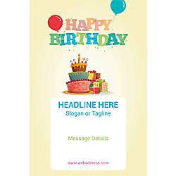 Custom Vertical Poster Birthday Cake And