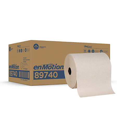 "enMotion® Flex Paper Towel Rolls, 8 1/4"" x 550', Brown, Case Of 6 Rolls"