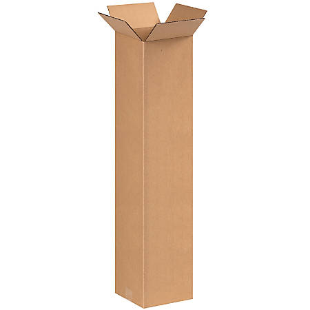 """Office Depot® Brand Tall Boxes, 8"""" x 8"""" x 36"""", Kraft, Pack Of 25"""