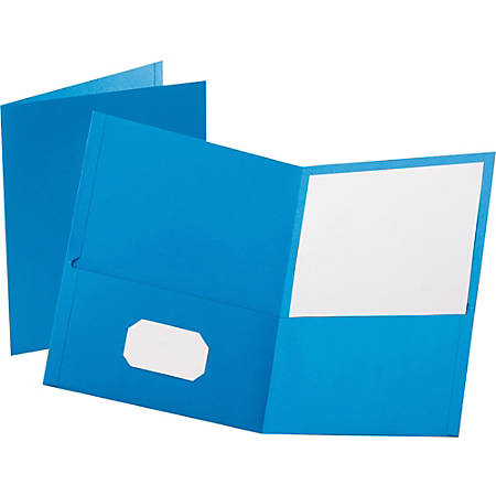 Esselte® Letter-Size Twin-Pocket Report Covers, Light Blue, Box Of 25
