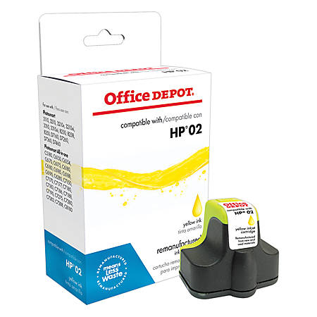 Office Depot® Brand OD73WN (HP 02) Remanufactured High-Yield Yellow Ink Cartridge
