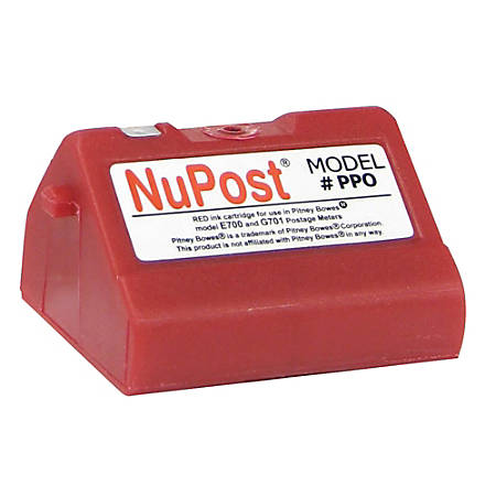 NuPost (Pitney Bowes 769-0) Remanufactured Postage Meter Red Ink Cartridge