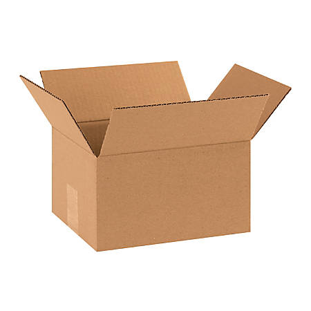 """Office Depot® Brand Corrugated Boxes, 10""""L x 8""""W x 6""""H, Kraft, Pack Of 25"""