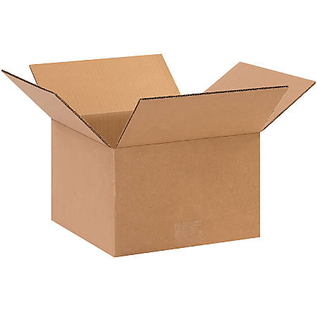 """Office Depot® Brand Corrugated Boxes, 10""""L x 10""""W x 6""""H, Kraft, Pack Of 25"""