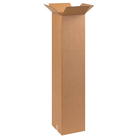 """Office Depot® Brand Tall Boxes, 10"""" x 10"""" x 48"""", Kraft, Pack Of 20"""