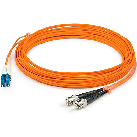 AddOn 20m LC (Male) to ST (Male) Orange OM1 Duplex Fiber OFNR (Riser-Rated) Patch Cable - 100% compatible and guaranteed to work