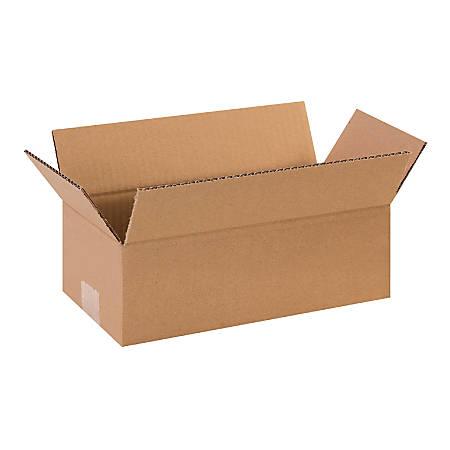 "Office Depot® Brand Long Boxes, 12""L x 6""H x 4""W, Kraft, Pack Of 25"