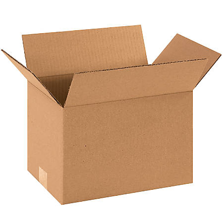 "Office Depot® Brand Corrugated Cartons, 12"" x 8"" x 8"", Kraft, Pack Of 25"