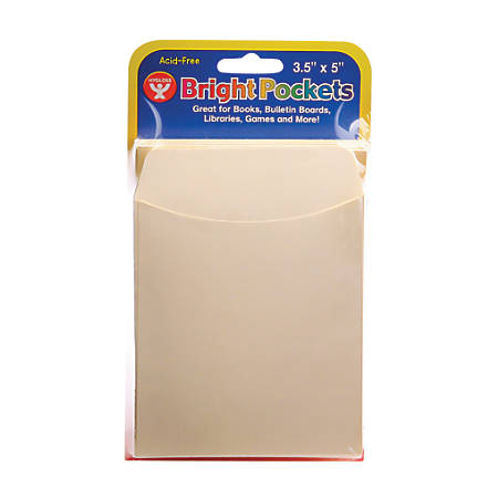 "Hygloss Manila Pockets, 3 1/2"" x 5"", 6 Packs Of 40"