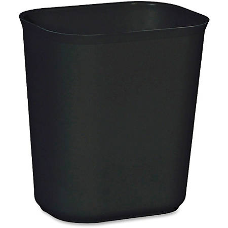 "Rubbermaid® Fire-Resistant Wastebasket, 3.5 Gallons, 12 1/4"" x 11 1/8"" x 8 1/4"", Black"