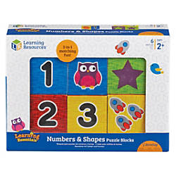 Learning Resources Numbers Puzzle Blocks Learning