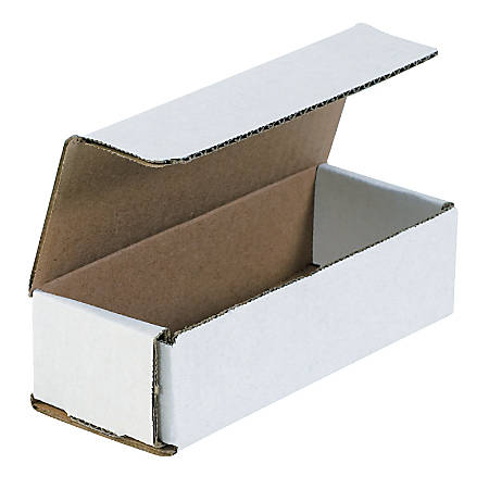 """Office Depot® Brand White Corrugated Mailers, 6 1/2"""" x 2 1/2"""" x 1 3/4"""", Pack Of 50"""