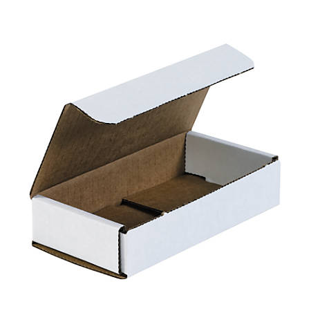 """Office Depot® Brand White Corrugated Mailers, 6 1/2"""" x 3 1/4"""" x 1 1/4"""",, Pack Of 50"""