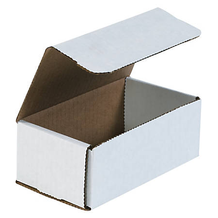 "Office Depot® Brand White Corrugated Mailers, 6 1/2"" x 3 5/8"" x 2 1/2"", Pack Of 50"