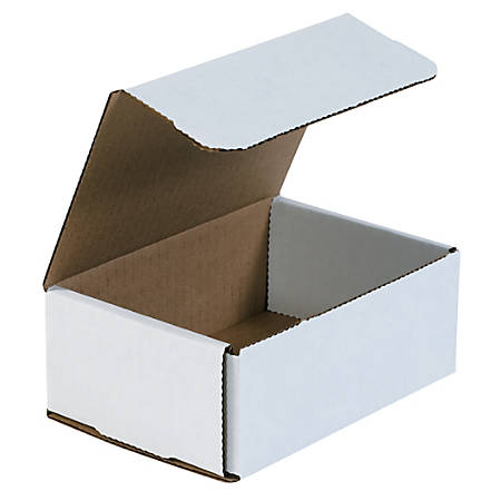 """Office Depot® Brand White Corrugated Mailers, 6 1/2"""" x 4 1/2"""" x 2 1/2"""",, Pack Of 50"""