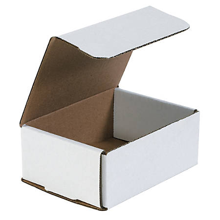 """Office Depot® Brand White Corrugated Mailers, 6 1/2"""" x 4 7/8"""" x 2 5/8"""", Pack Of 50"""