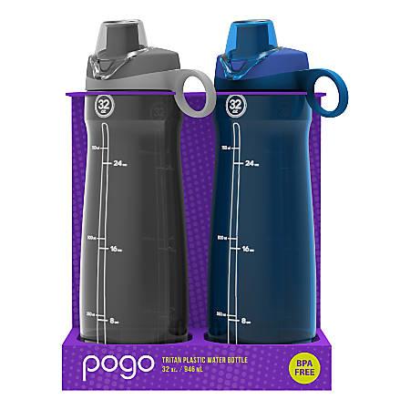 baf2f8f3b0 Pogo Tritan Chug Water Bottles 32 Oz GrayBlue Pack Of 2 Bottles ...