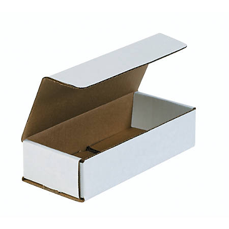 """Office Depot® Brand White Corrugated Mailers, 7 1/2"""" x 3 1/4"""" x 1 3/4"""", Pack Of 50"""