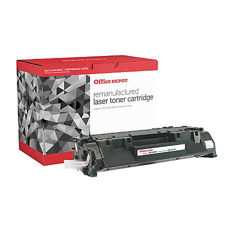 Office Depot® Brand CTG05AM (HP CE505A) Remanufactured Black MICR Toner Cartridge