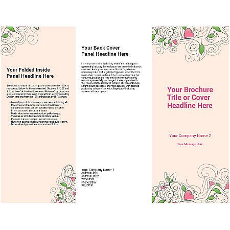 Customizable Trifold Brochure, Cream Floral