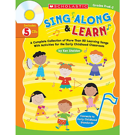 Scholastic Sing Along And Learn Book/CD Set